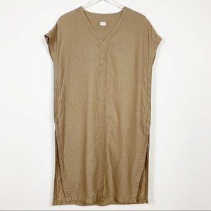 Poetry | Brown / Tan 100% Long Linen Tunic